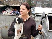 Nezáviděnihodný úkol s odklidem mrtvého těla zvířete měla pracovnice útulku v Dětmarovicích Marcela Sojková