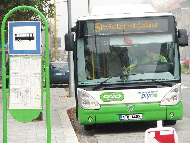 Ekologický autobus s pohonem na zemní plyn
