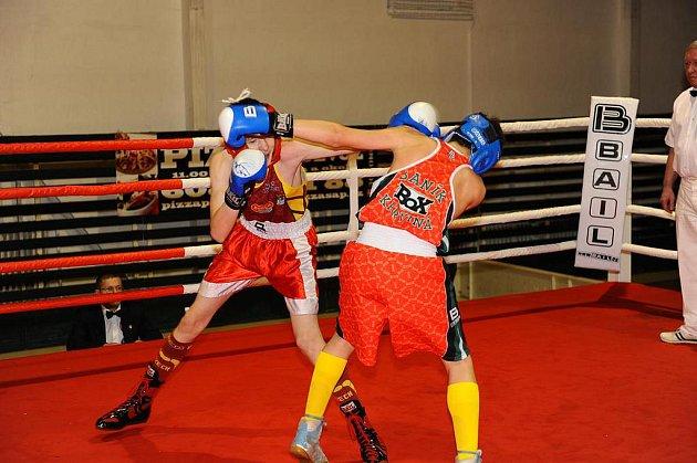 Krajská liga mládeže boxu v Ostravě-Porubě.