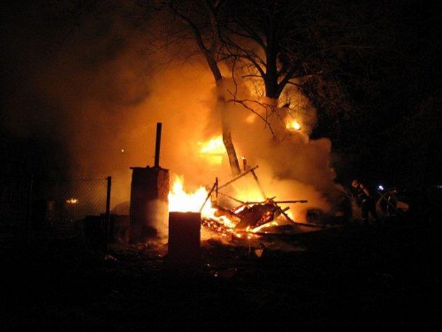 Požár domu v Albrechticích
