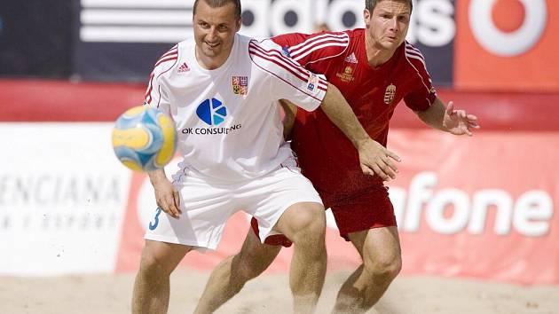Radek Mikan (v bílém) český reprezentant