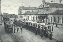 Bohumínské nádraží z počátku minulého století. Tehdy ještě jezdila ve městě tramvaj spojující je s Ostravou a dalšími městy.