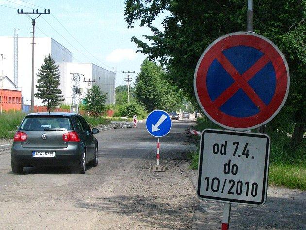 Oprava Tovární ulice v Českém Těšíně