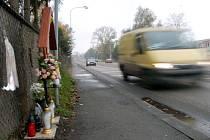 Přechod pro chodce na Ostravské ulici v Karviné