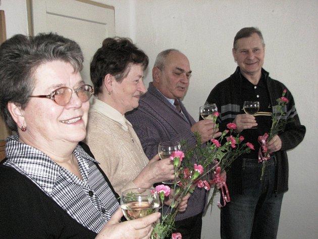 Marie Kolářová, Marie Přečková, František Procházka a Jan Čech