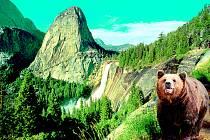 Nevada Falls  v národním parku Yosemite  patří k působivým sceneriím Kalifornie.