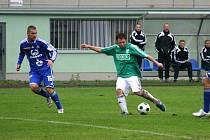 Michal Macek (v zeleném) se gólově neprosadil.