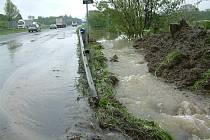 Ostravská ulice ve směru do Havířova po opadnutí vody