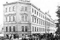 Prochaskova tiskárna kolem roku 1900.