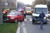 Nehoda na Mánesově ulici v Havířově