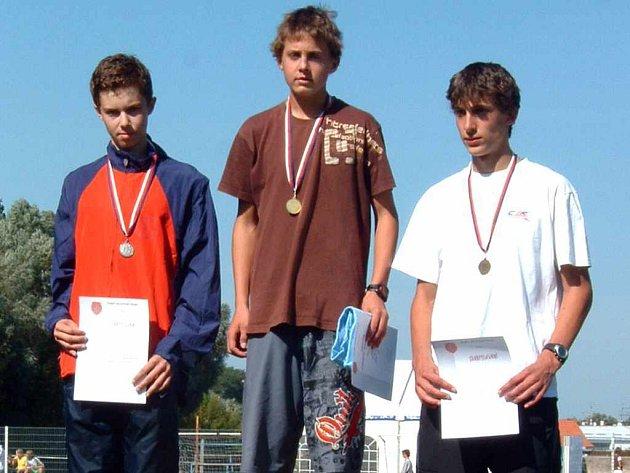 Petr Kaminski vystoupil na mistrovství republiky žactva dvakrát na nejvyšší stupínek.