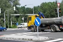 Nová světelná křižovatka na Orlovské ulici