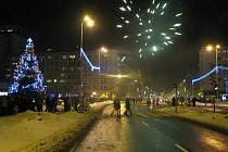 Novoroční ohňostroj v Havířově