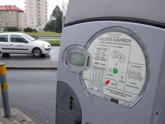 Parkovací automat v Havířově