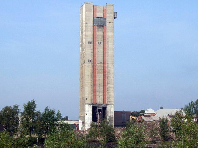 Skipová věž dolu Dukla