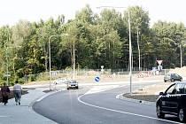 Ulice U Skleníků s novým rondelem u Globusu