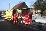 Nehoda dvou osobních vozů ve Stonavě