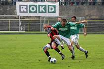 Fotbalisté Karviné (v zeleném) zcela zaslouženě porazili Opavu.