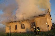 Požár objektu se stolařskou dílnou v Rychvaldě