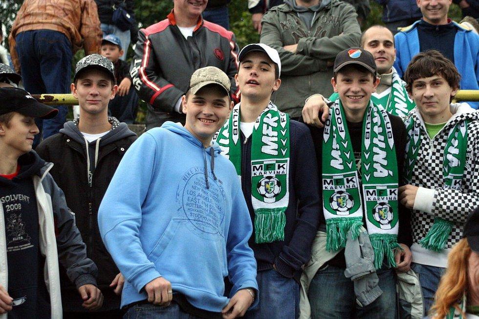 Karvinští fanoušci.