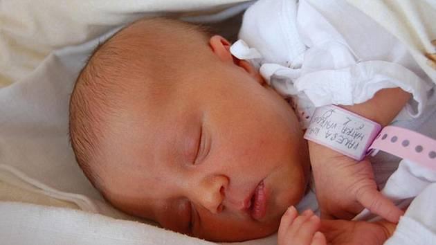 Vanesa Walicová z Českého Těšína se narodila 1. prosince v Třinci. Měřila 51 cm a vážila 3850 g.