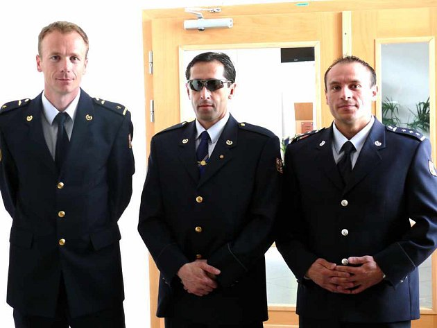 Trio hasičů, kteří se podepsali pod úspěchy české výpravy. Trenér Vladimír Vysocký, Tomáš Melčák a Havířovan Jan Garay.
