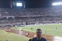 Ivan Karabec na stadionu River Plate.