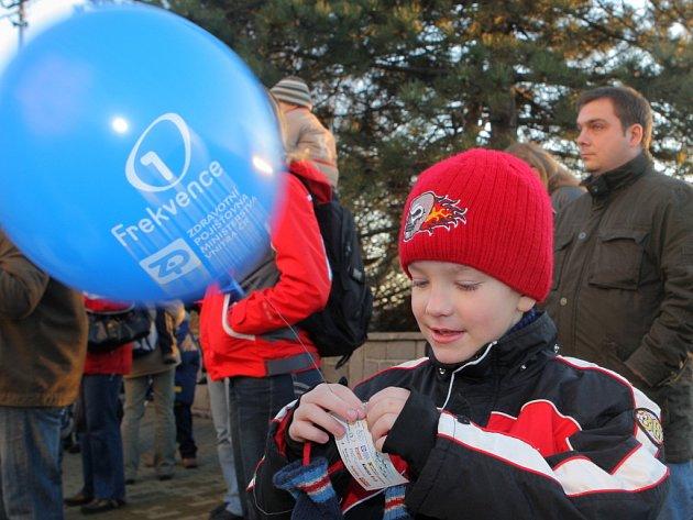 V Ostravě se v pouštěly balónky o rekord
