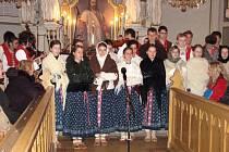 Vystoupení Voničky v evangelickém kostele v Bludovicích