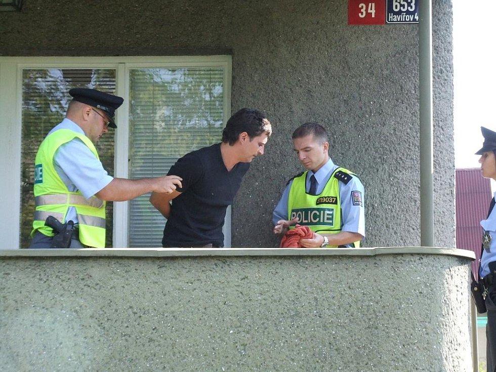 Zloděj, který se vloupal do domu, se musel vzdát. Jinou šanci neměl.