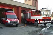Vozový park jednotky sboru dobrovolných hasičů obce Albrechtice.