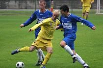 Orlovští fotbalisté se v Hulíně připravili o výhru vlastními chybami.