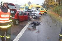 Nehoda v Karviné, při které byli zraněni čtyři lidé