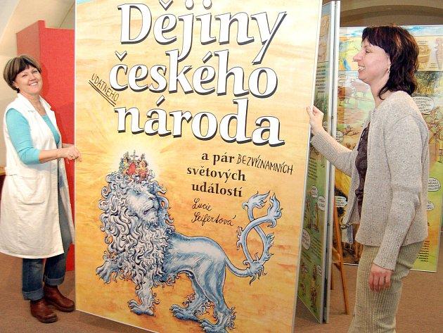 České dějiny ve 22 obrazech můžete  vidět v pobočce Muzea Těšínska v Karviné–Fryštátě. Na obřích panelech jsou ilustrované dějiny českého národa, jak je původně v knižní podobě vytvořila výtvarnice Lucie Seifertová.