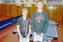 Tamara Tomanová a Michal Beneš - medailisté žebříčkového turnaje.