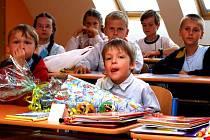 Žáci prvního stupně polské základní školy v Horní Suché