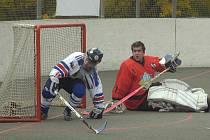 Hokejbalisté Karviné v Dobřanech neuspěli a propadli se na poslední místo tabulky.