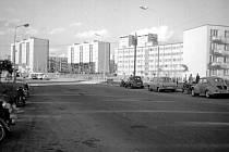 Ulice 40. výročí KSČ kolem roku 1965.