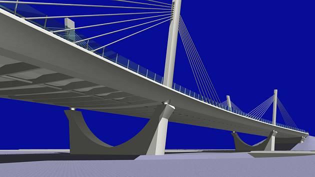 Toto je podoba nového skřečoňského mostu v architektonické studii.