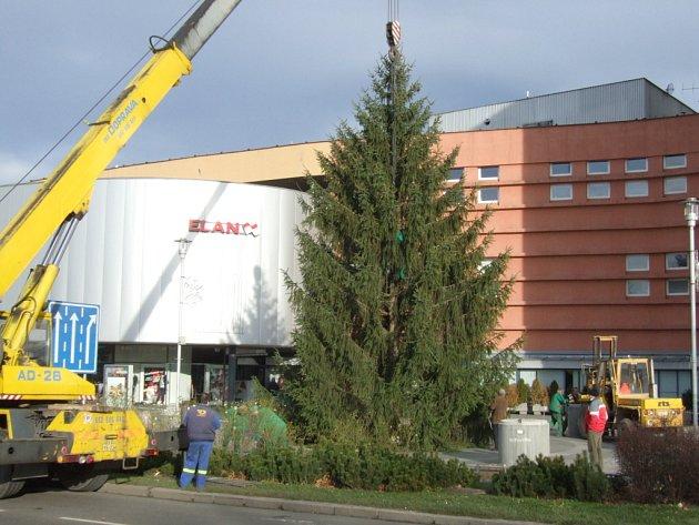 Vánoční strom v centru Havířova
