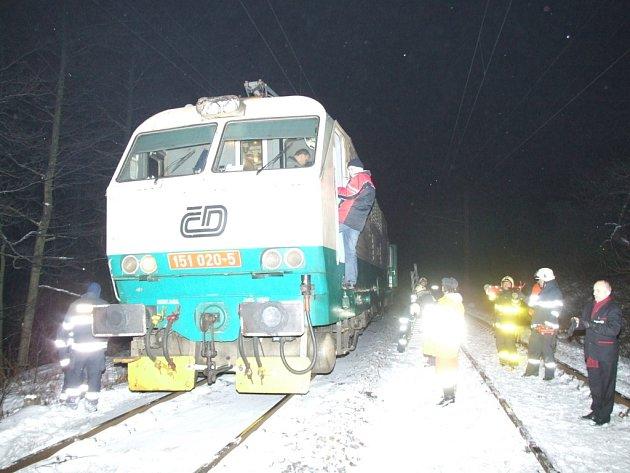 IC Hutník zastavil požár lokomotivy