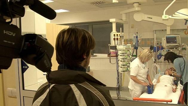 Natáčení filmu v havířovské nemocnici