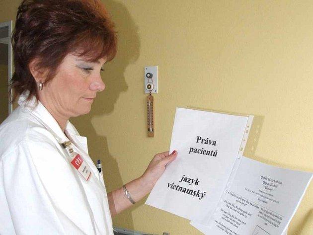 Práva pacientů jsou pro cizince připravena v šesti jazycích.