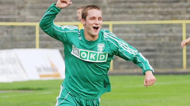 Tomáš Knötig se raduje z gólu do sítě Varnsdorfu.