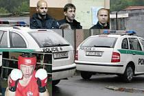 Policisté jeli ve službě do Šenova fandit svému kolegovi Martinu Bravencovi.