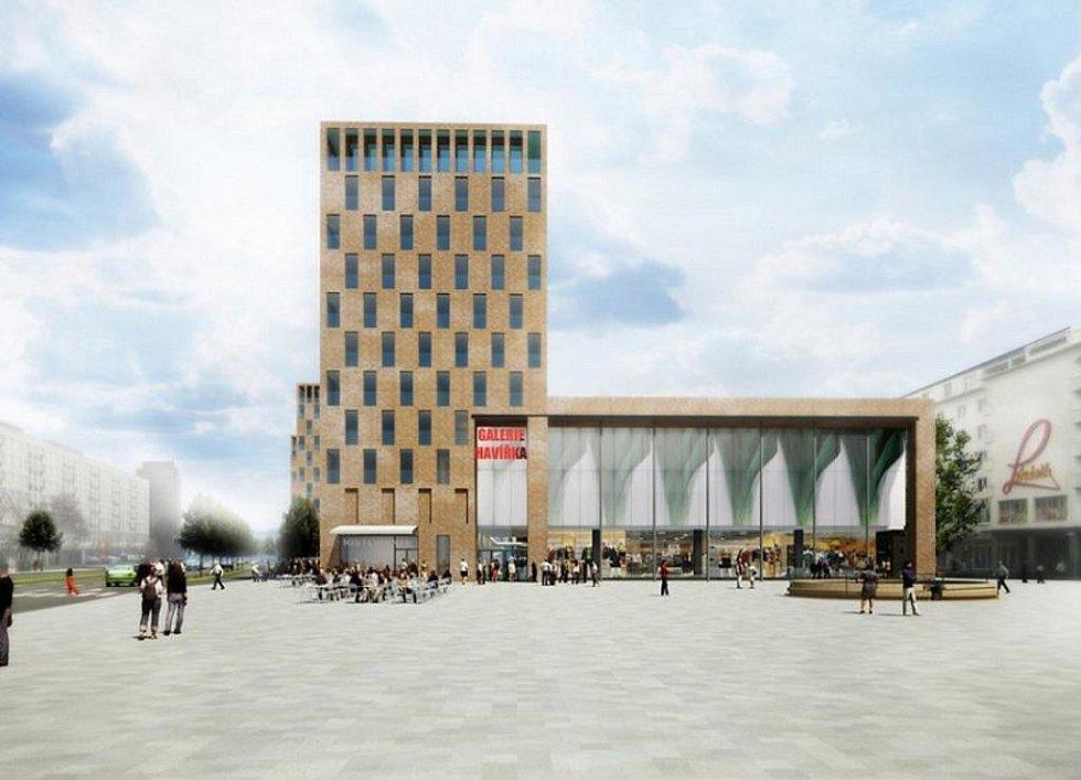 Navržená podoba náměstí Republiky v centru Havířova