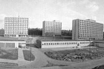 Areál na dobové fotografii z počátku sedmdesátých let 20. století.