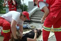 V Karviné v sobotu trénovali záchranáři z Českého červeného kříže
