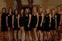 Semifinálová desítka soutěže Miss Academia 2010.