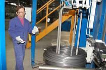 Z otevření nové linky na výrobu drátů v Drátovnách Bohumín